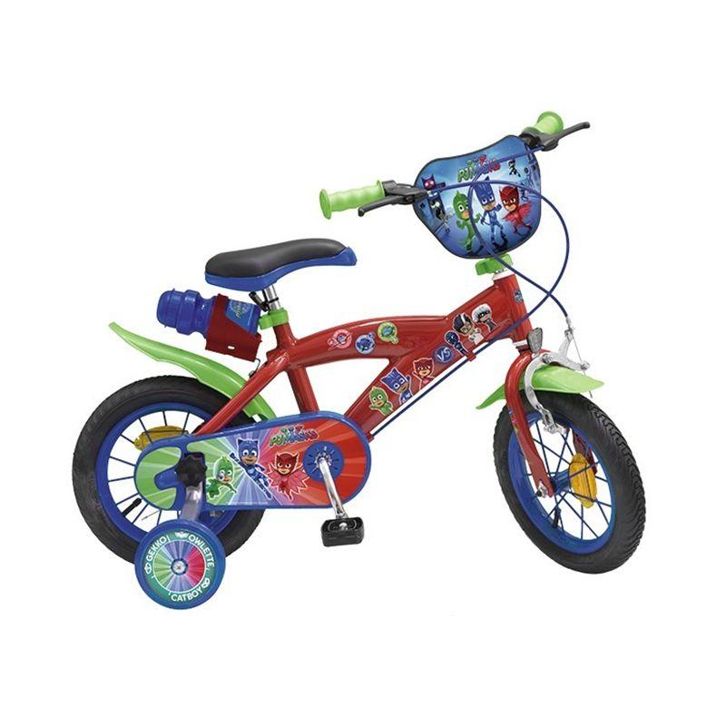 Bicicleta copii baieti Disney Pj Masks 12 inch 3 5 ani Toimsa
